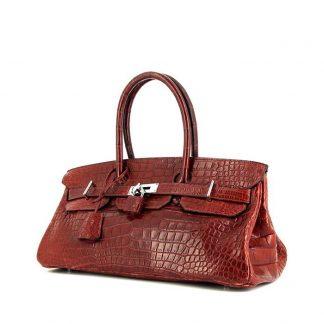 083636d49079 Best Replica Hermes Birkin Shoulder handbag in red porosus crocodile