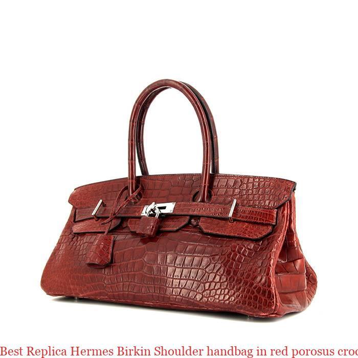 adc2266fa Best Replica Hermes Birkin Shoulder handbag in red porosus crocodile ...
