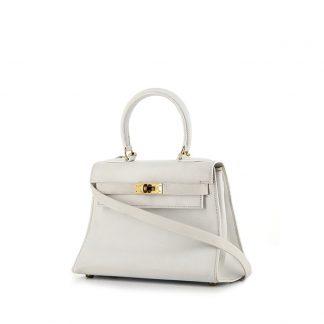 e93486553911 ... High Quality Hermès Replica Kelly 20 cm handbag in white Swift leather  ...