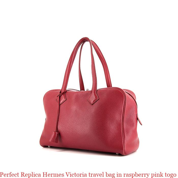ee204eddc5d7 Perfect Replica Hermes Victoria travel bag in raspberry pink togo leather