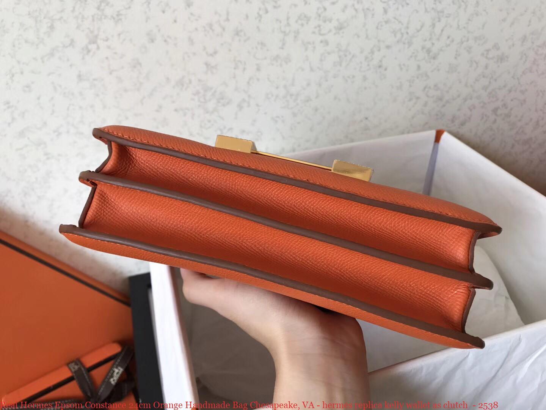 cce9064451c3 Real Hermes Epsom Constance 24cm Orange Handmade Bag Chesapeake ...